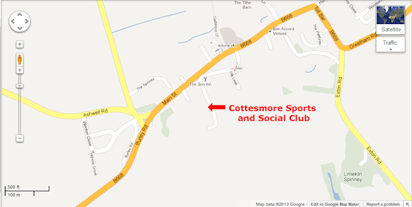 Cottesmore Social Club Map